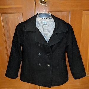 Old Navy girls black coat  sz med 8/10